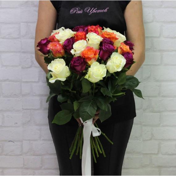 Роза микс 40см (разные расцветки)